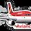 Thumbnail: Adesivo Silhueta Airbus A320 CFM Avianca Brasil old colors