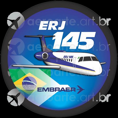Adesivo Bolacha Embraer ERJ-145