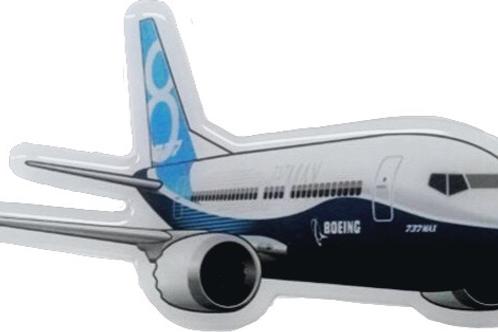 Adesivo Resinado Boeing 737MAX 8
