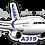 Thumbnail: Adesivo Silhueta Airbus A319 CFM