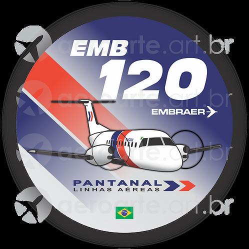 Adesivo Bolacha Embraer EMB-120 Brasília Pantanal