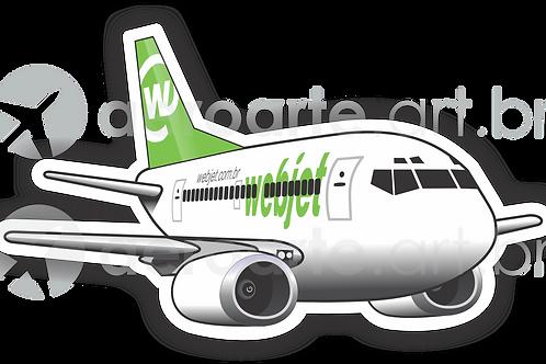 Adesivo Silhueta Boeing 737-300 Webjet