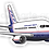 Thumbnail: Adesivo Silhueta Boeing 767