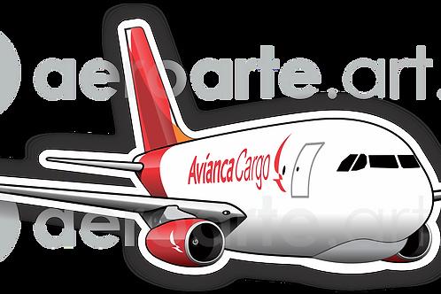 Adesivo Silhueta Airbus A330F Avianca Cargo