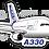 Thumbnail: Adesivo Silhueta Airbus A330