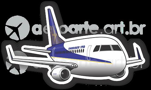 Adesivo Silhueta Embraer 170