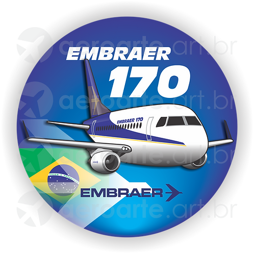 Adesivo Bolacha Embraer 170