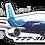 Thumbnail: Adesivo Silhueta Boeing 777-300ER