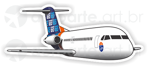 Adesivo Silhueta Fokker 100