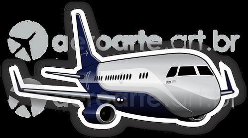 Adesivo Silhueta Embraer Lineage 1000E