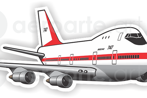 Adesivo Silhueta Boeing 747-100