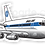 Thumbnail: Adesivo Silhueta Boeing 707 PanAm