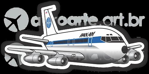 Adesivo Silhueta Boeing 707 PanAm