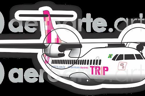 Adesivo Silhueta ATR 72 TRIP Rosa