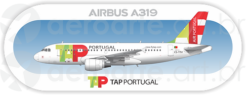 Adesivo Perfil Airbus A319 TAP