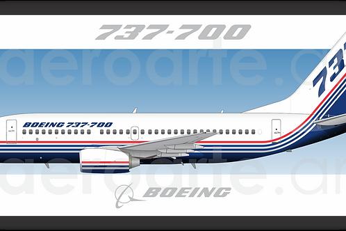 Adesivo Perfil Boeing 737-700