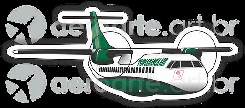 Adesivo Silhueta ATR-72 TUPIARANGA AIR