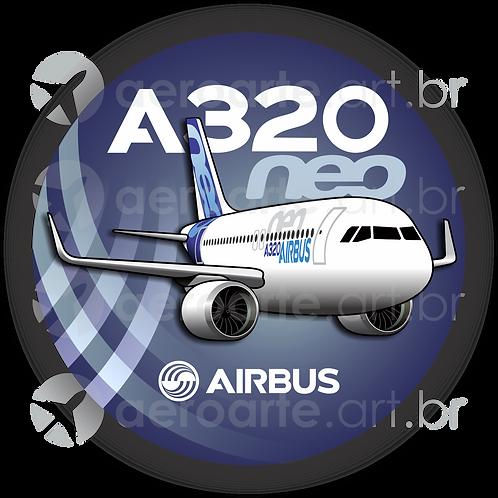 Adesivo Bolacha Airbus A320 NEO