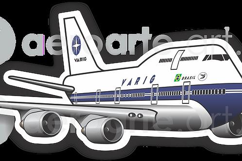 Adesivo Silhueta Boeing 747-400 VARIG