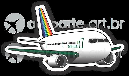 Adesivo Silhueta Boeing 767 Transbrasil Verde
