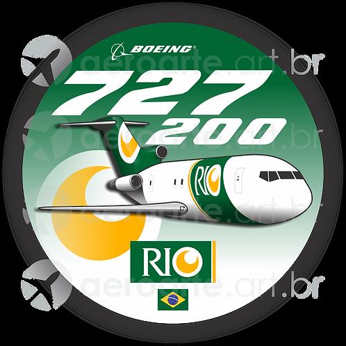 Adesivo Bolacha Boeing 727-200F RIO