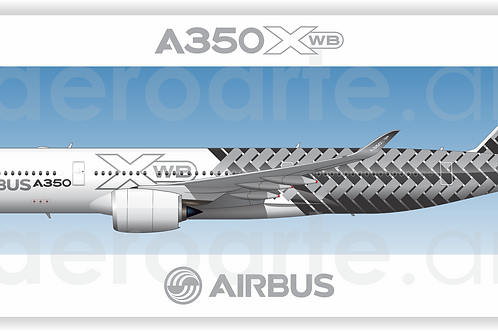 Adesivo Perfil Airbus A350