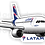 Thumbnail: Adesivo Silhueta Airbus A320 NEO LATAM