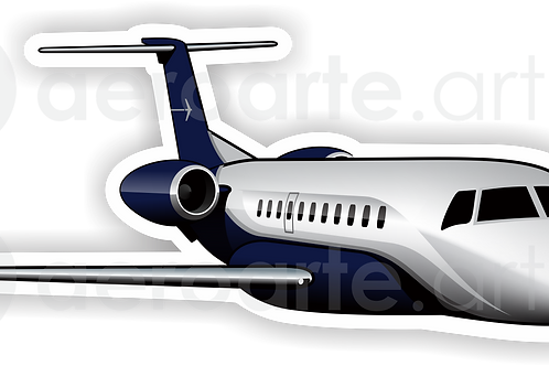 Adesivo Silhueta Embraer Legacy 600