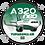 Thumbnail: Adesivo Bolacha Airbus A320 NEO TUPIARANGA AIR