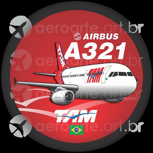 Adesivo Bolacha Airbus A321 IAE TAM