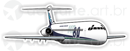 Adesivo Silhueta McDonnell Douglas MD-80