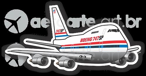 Adesivo Silhueta Boeing 747SP