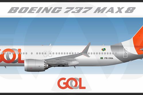 Adesivo Perfil Boeing 737 MAX 8 GOL