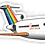 Thumbnail: Adesivo Silhueta Boeing 727 Transbrasil Laranja