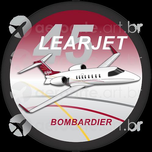Adesivo Bolacha Learjet 45