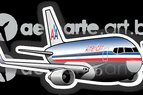 Adesivo Silhueta Boeing 767-300 American Airlines