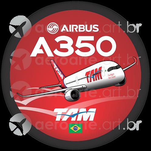 Adesivo Bolacha Airbus A350 TAM