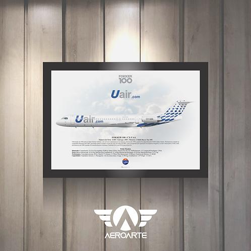 Pôster Perfil Fokker 100 Uair