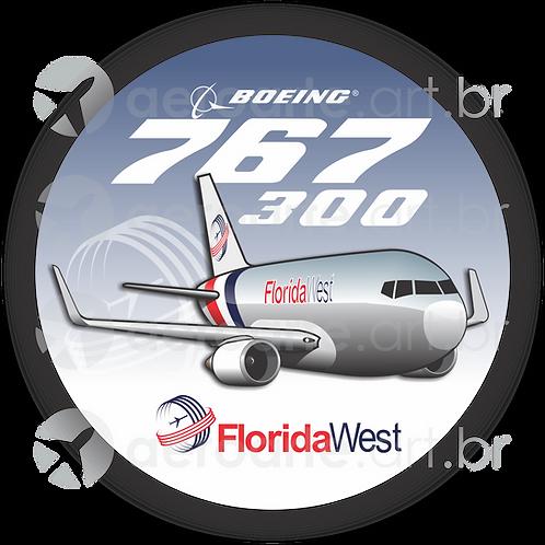 Adesivo Bolacha Boeing 767-300F Florida West