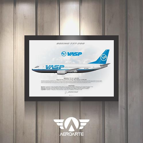 Pôster Perfil Boeing 737-300 VASP