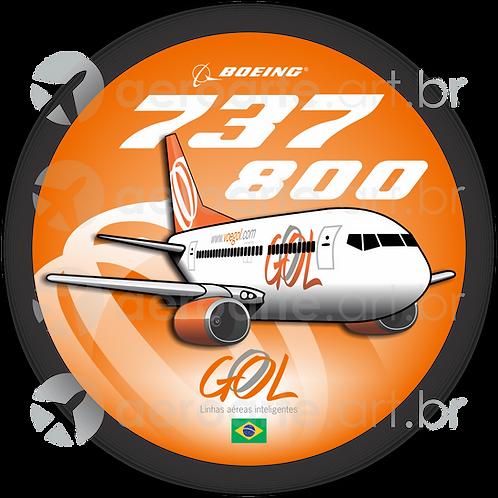 Adesivo Bolacha Boeing 737-800 GOL 2ª Pintura