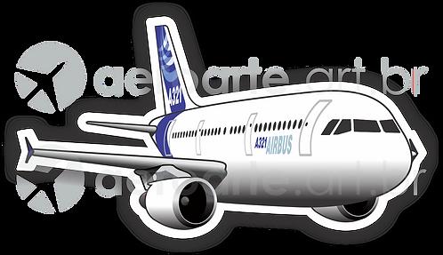 Adesivo Silhueta Airbus A321 CFM