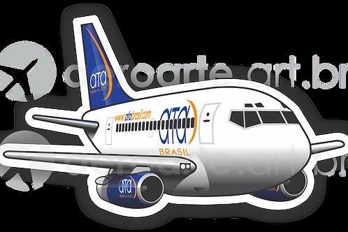 Adesivo Silhueta Boeing 737-200 ATA Brasil