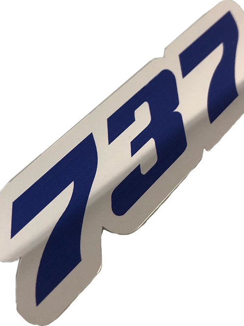 Adesivo Cromado Boeing 737