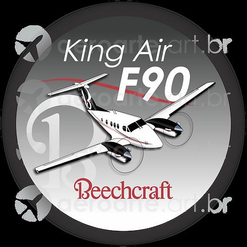 Adesivo Bolacha Beechcraft King Air F90