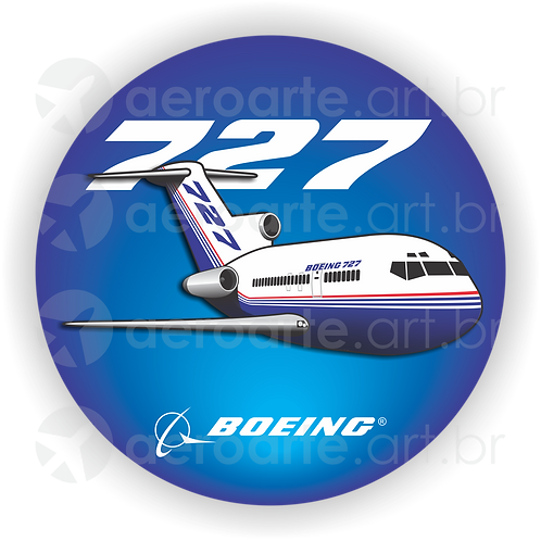 Adesivo Bolacha Boeing 727