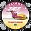 Thumbnail: Adesivo Bolacha Boeing 727 Transbrasil Vinho / Amarelo