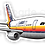 Thumbnail: Adesivo Silhueta Airbus A300
