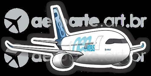 Adesivo Silhueta Airbus A330 NEO