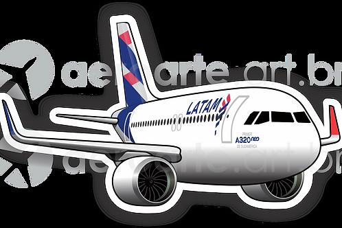 Adesivo Silhueta Airbus A320 NEO LATAM